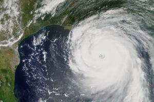 Hurricane Katrina heading towards New Orleans, Louisiana in 2005